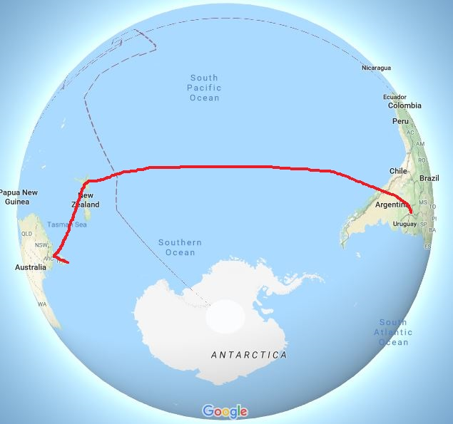 Map Australia to Argentina with added line.jpg